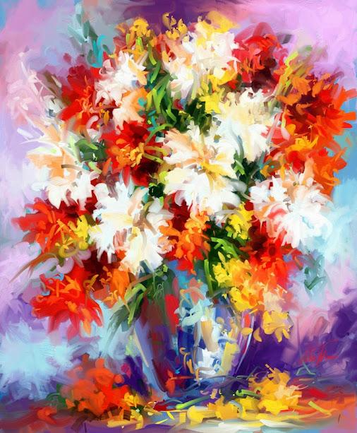 ~ Feast of early summer ~  #dailydigitalpainting 2015 Digital oil colors painted on my mobile.  :)  ...