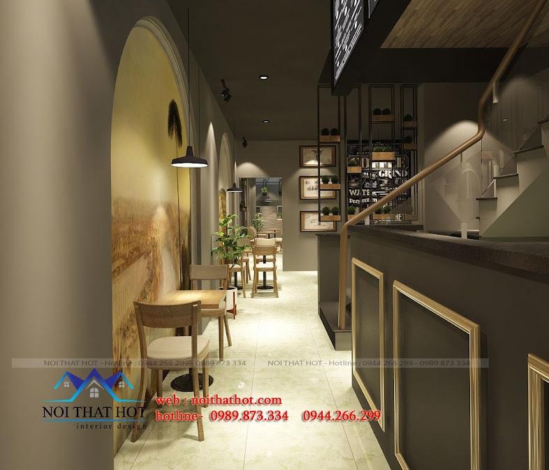 trang trí thiết kế quán cafe