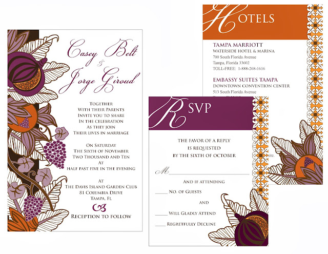 Casey and Jorge Wedding Invitations