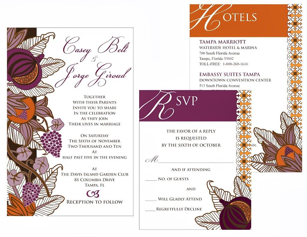 Casey and Jorge Wedding Invitations