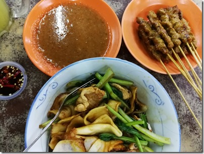 mee hoon kuih x satay x lime juice with sour plum
