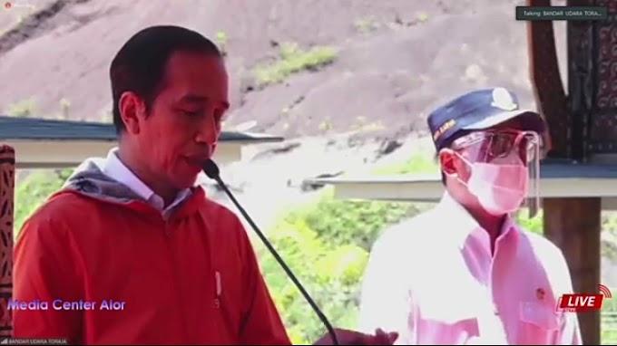 Resmikan Bandara Pantar, Presiden Jokowi: Dimanfaatkan Untuk Peningkatan Ekonomi Daerah