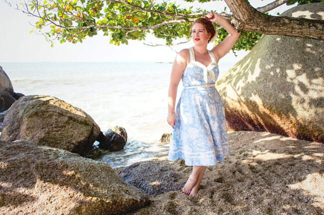 Beach side vintage style with Voodoo Vixen   Lavender & Twill