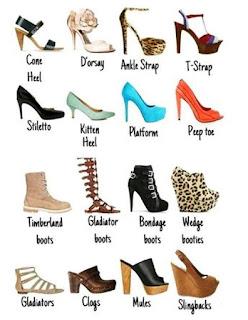 Image result for jenis jenis kasut wanita