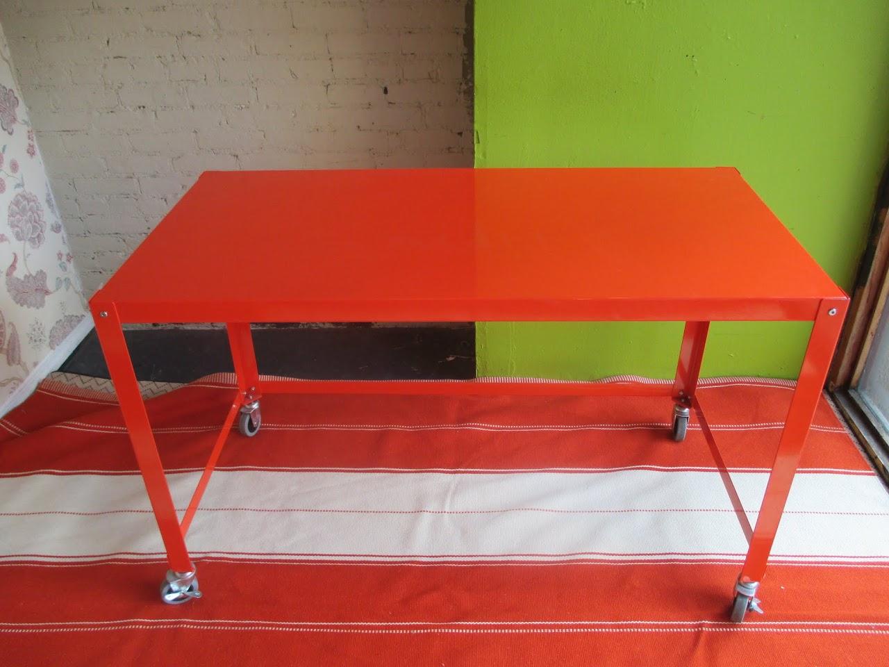 Orange Metal Desk