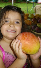 Mango lover little girl