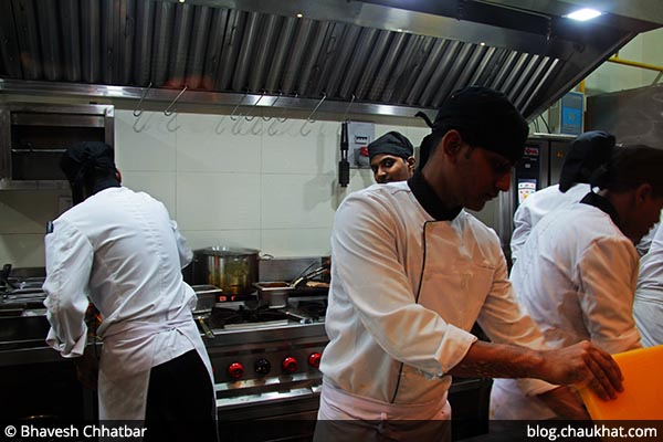 Chefs at work at 212 All Day Cafe & Bar at Phoenix Marketcity in Pune