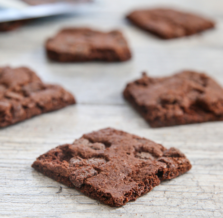 close-up photo of Brownie Crisps