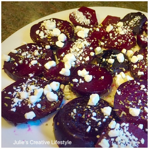 beet & goat cheese recipe @ Julie's Creative Lifestyle