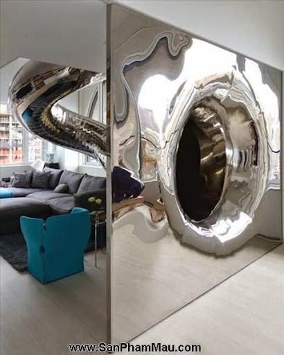 Khám phá căn hộ tươi sáng với cầu trượt thú vị cho trẻ nhỏ : Nội thấ căn hộ-6