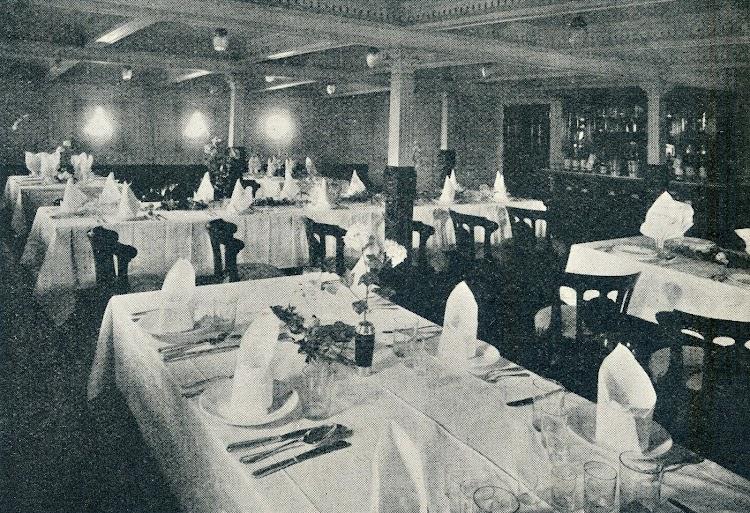 Comedor del ROMEU. De la revista Shipbuilding & Shipping Record. Año 1920.JPG