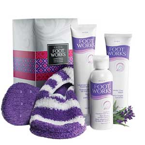 Avon Footworks Lavender Collection Gift Set