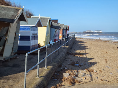 Damaged Beach huts