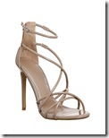 Office nude tubular strap sandals