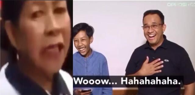 Video Reaksi Anies Dihina Anjing oleh Emak-emak, Cuma Tertawa Santai