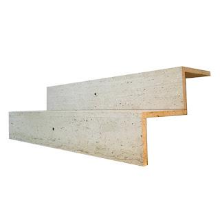Travertine Tiered Two-Step Riser Table