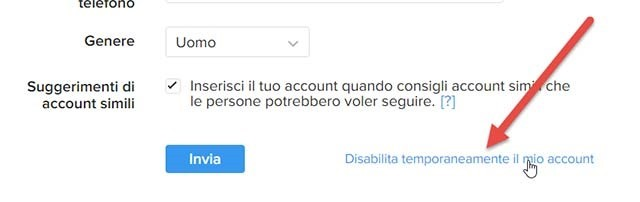 disabilitare-account