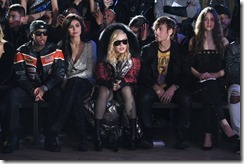 NEW YORK, NY - FEBRUARY 13:  (L-R) Tyga, Kylie Jenner, Madonna and Steven Klein attend the Front Row for the Philipp Plein Fall/Winter 2017/2018 Women's And Men's Fashion Show at The New York Public Library on February 13, 2017 in New York City.  (Photo by Dimitrios Kambouris/Getty Images for Philipp Plein)