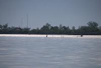 Cherry Beach, Toronto, May 2010: Man on kayak