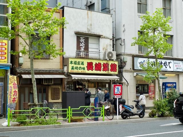 長崎菜館の店頭の行列