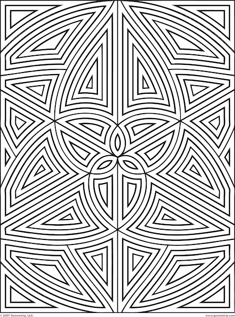 Difficult Geometric Design Coloring Pages  Rectangles Page  Of