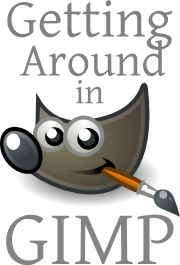 Getting Around in GIMP logo.  Tutorials and How-To for GIMP and Open Source Software.