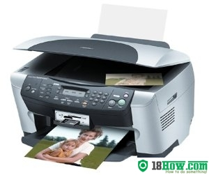 How to reset flashing lights for Epson RX500 printer