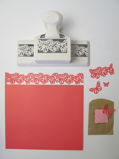 I love the Butterflies Deep Edger Punch. Great for paper ribbons. We also like to snip it up and use the tiny butterflies.
