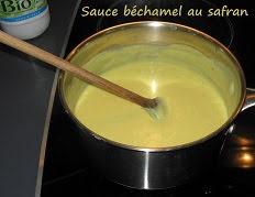 Sauce béchamel au safran