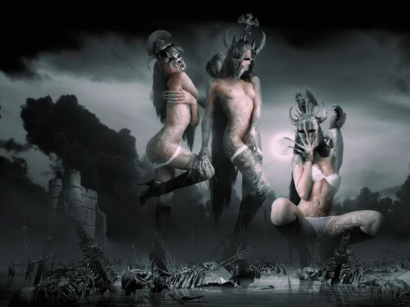 Three Demon Girls Fantasy, Demonesses