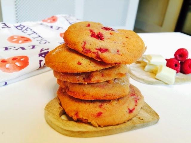 White Chocolate and Raspberry Cheesecake Cookies The Betty Stamp