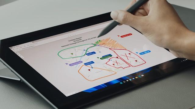 Windows 11 mendukung stylus dan sentuhan