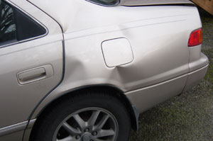 Here is another angle of my car crash. Photo taken on March 21, 2007.