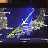 flight route around North-Korea in Taoyuan, T'ao-yuan, Taiwan