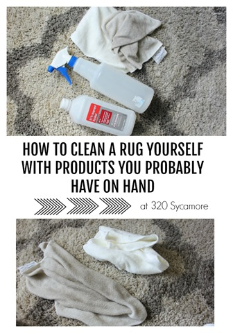 how to clean a rug DIY