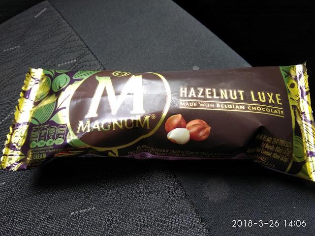 Aiskrim Magnum Hazelnut Luxe