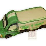 44. kép: Formatorták (fiúknak) - Verdák teherautó torta