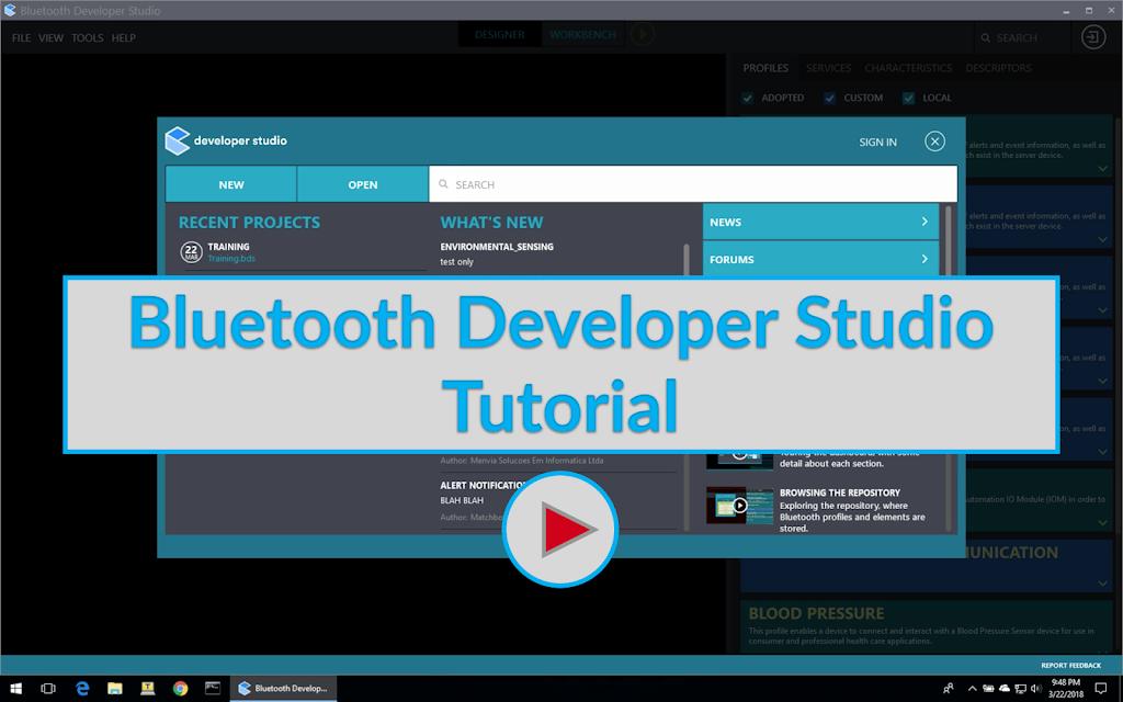 Bluetooth Developer Studio Tutorial Image