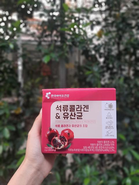 Bột Collagen Lựu Pomegrante Collagen & Probiotics Korea Bio Health