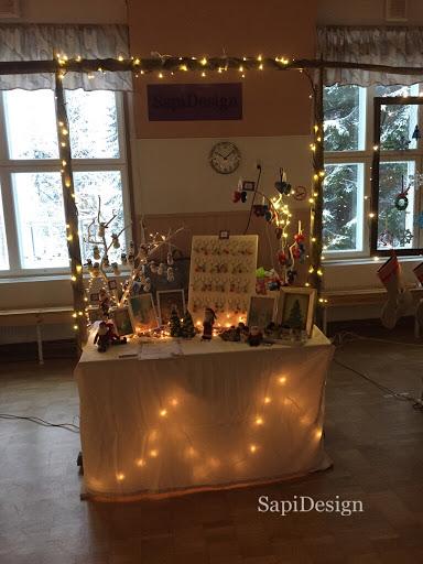 joulumyyjäiset myyntipöytä myyjäiset joulu SapiDesign