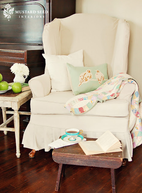 Video slipcover tutorial series part 3 amp wing chair reveal miss