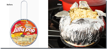 Jiffy Pop Before and After