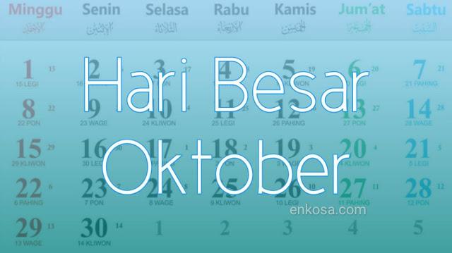 Daftar Hari Besar Nasional Bulan Oktober 2021