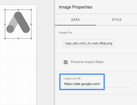 Use the Image link URL field to make an image a link