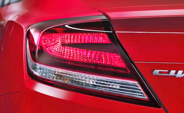 2014 honda civic coupe taillight photo 551066 s 624x382 مواصفات هوندا سيفيك 2014 مع صور و الاسعار