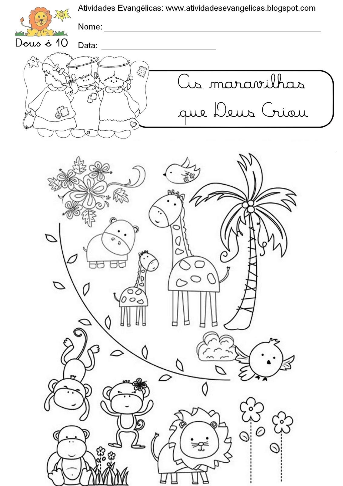 Muito Atividades Evangélicas: Atividades para pintar / colorir / imprimir LL15
