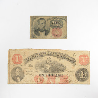 1862 and 1875 Antique Currency Note Lot