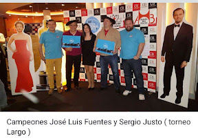 Sergio Justo Plaza y Jose luis Fuentes Curros (el indio), Campeones del XVI Campeonato de mus Bar El Rincon del Chiste