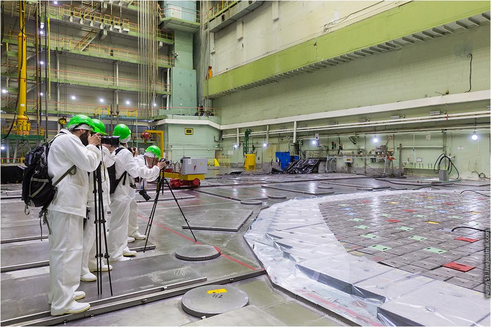 Реакторный зал Курской АЭС
