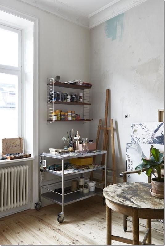 La casa di un artista tra stile scandinavo e industriale for Interni parigini